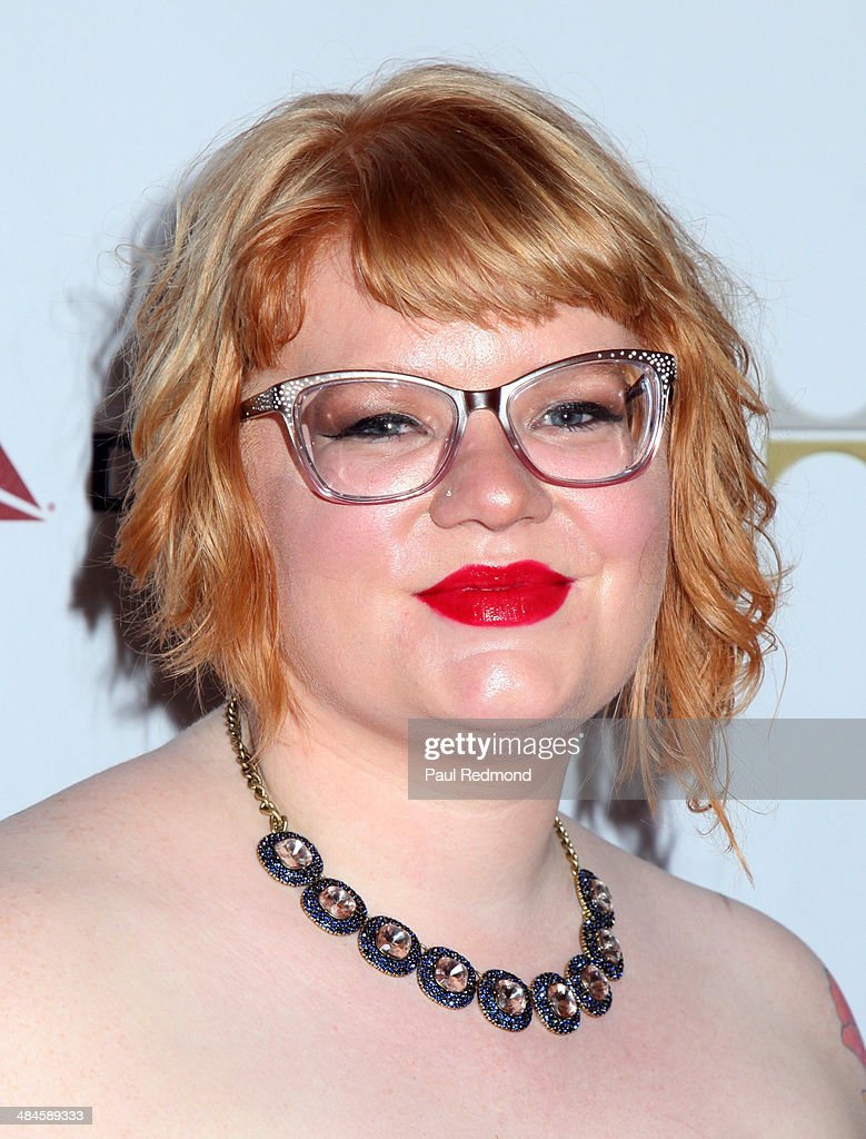 Reporter Melissa Griffiths arriving at the 25th Annual GLAAD Media Awards at The Beverly Hilton Hotel on April 12, 2014 in Beverly Hills, California.