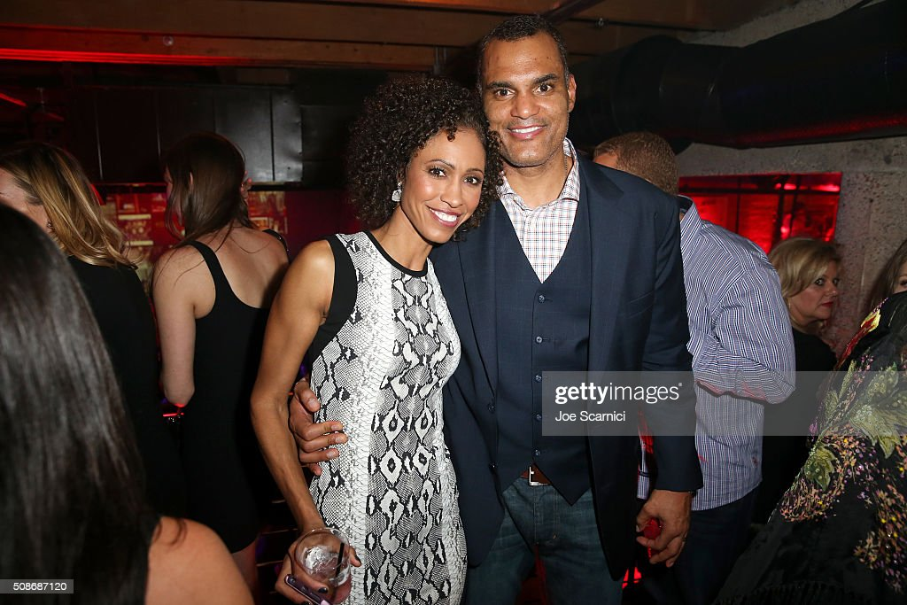 ESPN reporter Sage Steele (L) and Chad Steele attend Bleacher Report's 'Bleacher Ball' presented by go90 at The Mezzanine prior to Sunday's big game on February 5, 2016 in San Francisco, California.