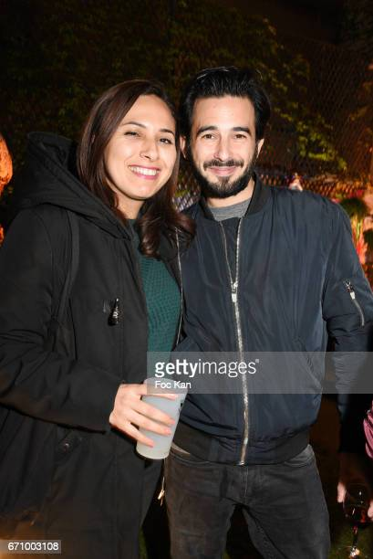 TV reporter Salhia Brakhlia and Alexis Birman attend 'Tonic Follies' Villa Schweppes Before Cannes Festival Party at Foundation Mona Bismarck on...