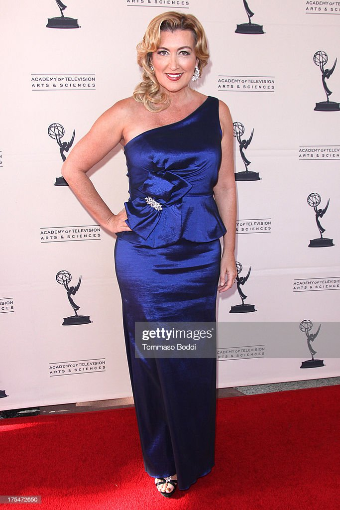 Reporter Wendy Burch attends the Academy Of Television Arts & Sciences 65th Los Angeles Area EMMY Awards held at the Leonard H. Goldenson Theatre on August 3, 2013 in North Hollywood, California.