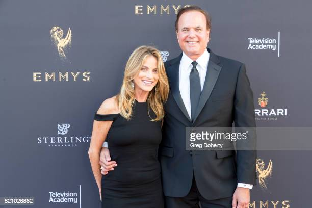 Reporters Dorothy Lucey and David Goldstein arrive for the 69th Los Angeles Area Emmy Awards at Television Academy on July 22 2017 in Los Angeles...