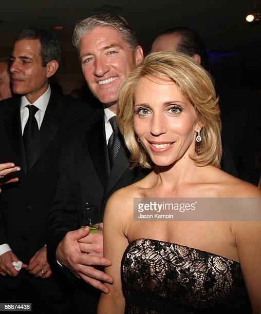 Reporters John King and Dana Bash attend the PEOPLETIMEFORTUNECNN White House Correspondent�s dinner cocktail party at Hilton Hotel on May 9 2009 in...