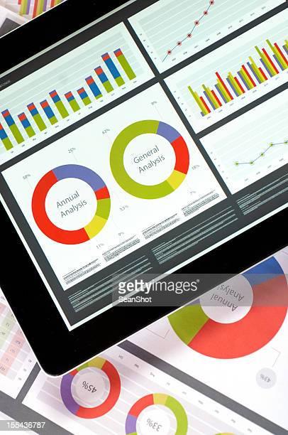 Berichte auf tablet und Papier