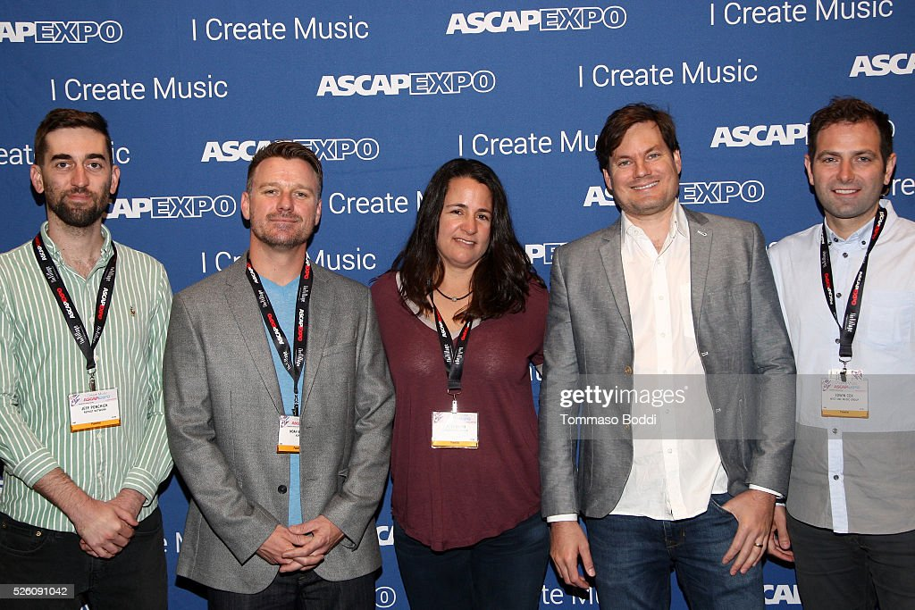 Repost Network Founder/CEO Jeff Ponchick, AdRev President <a gi-track='captionPersonalityLinkClicked' href=/galleries/search?phrase=Noah+Becker&family=editorial&specificpeople=2316372 ng-click='$event.stopPropagation()'>Noah Becker</a>, North Music Group Owner, Music Publisher & Music Supervisor Abby North, DashGo Founder/CEO Ben Patterson and West One Music Group Managing & Creative Director/President Edwin Cox attend the 2016 ASCAP 'I Create Music' EXPO on April 29, 2016 in Los Angeles, California.