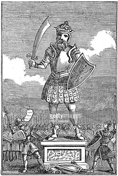 Representation of Odin or Wotan 1834 The Scandinavian god Odin known to the AngloSaxons as Wotan God of the dead he banqueted in Valhalla with those...