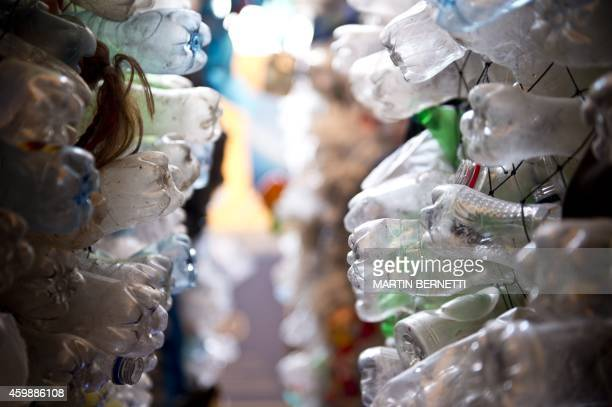 A representation of plastics pollution of rivers and oceans that affect the planet in the Ocean Pavilion on the sidelines of the UN COP20 and CMP10...