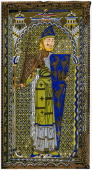 Representation of the enamel effigy of Geoffrey V Count of Anjou on his tomb at Le Mans Cathedral Le Mans France 1849 From Le Moyen Age et la...