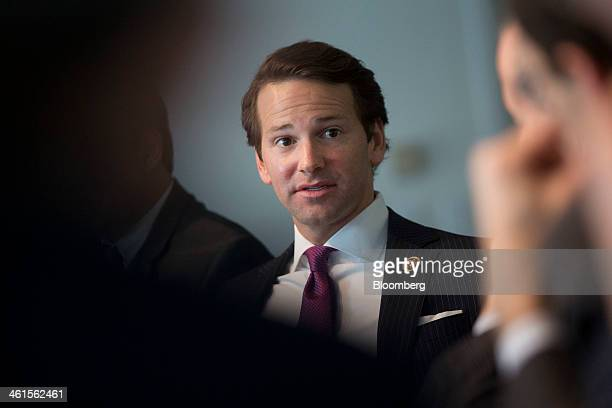 Representative Aaron Schock a Republican from Illinois speaks during an interview in Washington DC US on Thursday Jan 9 2014 Republicans on the House...
