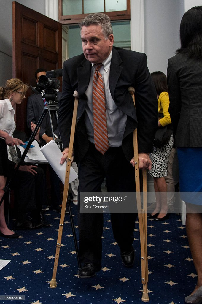 Representative Chris Smith(R-NJ) speaks during a Capitol Hill briefing to discuss 'the silent suffering of American children and their left-behind parents who are victims of international parental child abduction' in the Cannon House Office Building on June 25, 2015 in Washington DC.