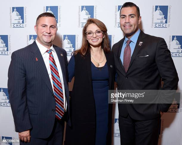 Representative Darren Soto Congressional Hispanic Caucus Institute President and CEO Domenika Lynch and actor JW Cortes attend the Congressional...