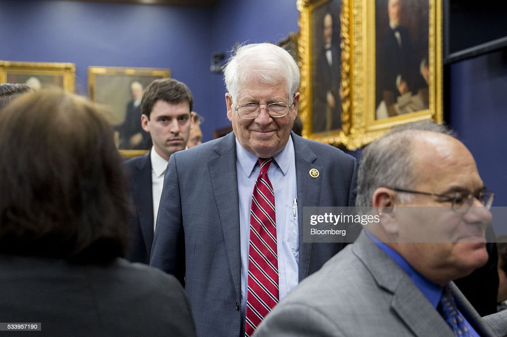 Representative David Price, a Democrat from North Carolina, center, arrives to a House Appropriations Committee markup in Washington, D.C., U.S., on Tuesday, May 24, 2016. The committee was meeting on the markup of the FY2017 Commerce, Justice and Science bill and the FY 2017 Transportation, Housing and Urban Development Appropriations bill. Photographer: Andrew Harrer/Bloomberg via Getty Images