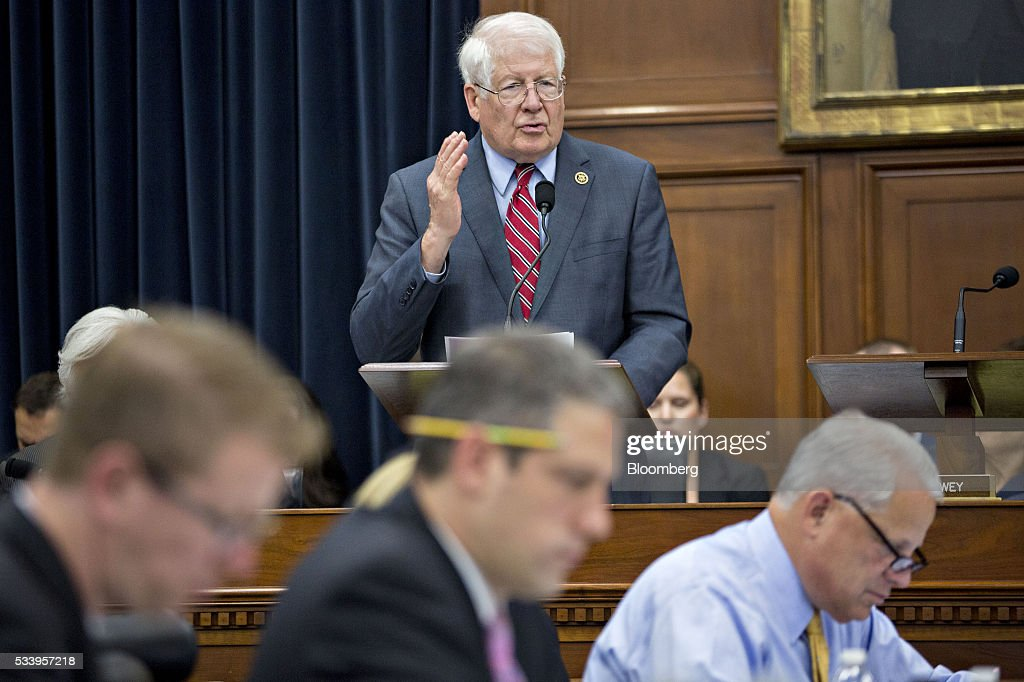 Representative David Price, a Democrat from North Carolina, standing, speaks during a House Appropriations Committee markup in Washington, D.C., U.S., on Tuesday, May 24, 2016. The committee was meeting on the markup of the FY2017 Commerce, Justice and Science bill and the FY 2017 Transportation, Housing and Urban Development Appropriations bill. Photographer: Andrew Harrer/Bloomberg via Getty Images
