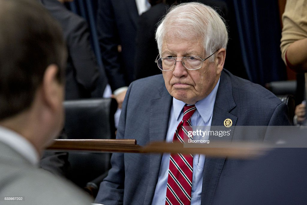 Representative David Price, a Democrat from North Carolina, waits to begin a House Appropriations Committee markup in Washington, D.C., U.S., on Tuesday, May 24, 2016. The committee was meeting on the markup of the FY2017 Commerce, Justice and Science bill and the FY 2017 Transportation, Housing and Urban Development Appropriations bill. Photographer: Andrew Harrer/Bloomberg via Getty Images