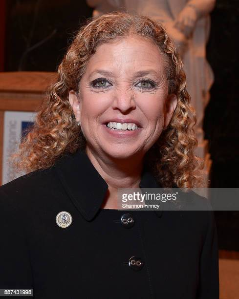 Representative Debbie Wasserman Schultz attends the Congressional Hispanic Caucus Institute Holiday Reception benefitting Puerto Rico youth at the...