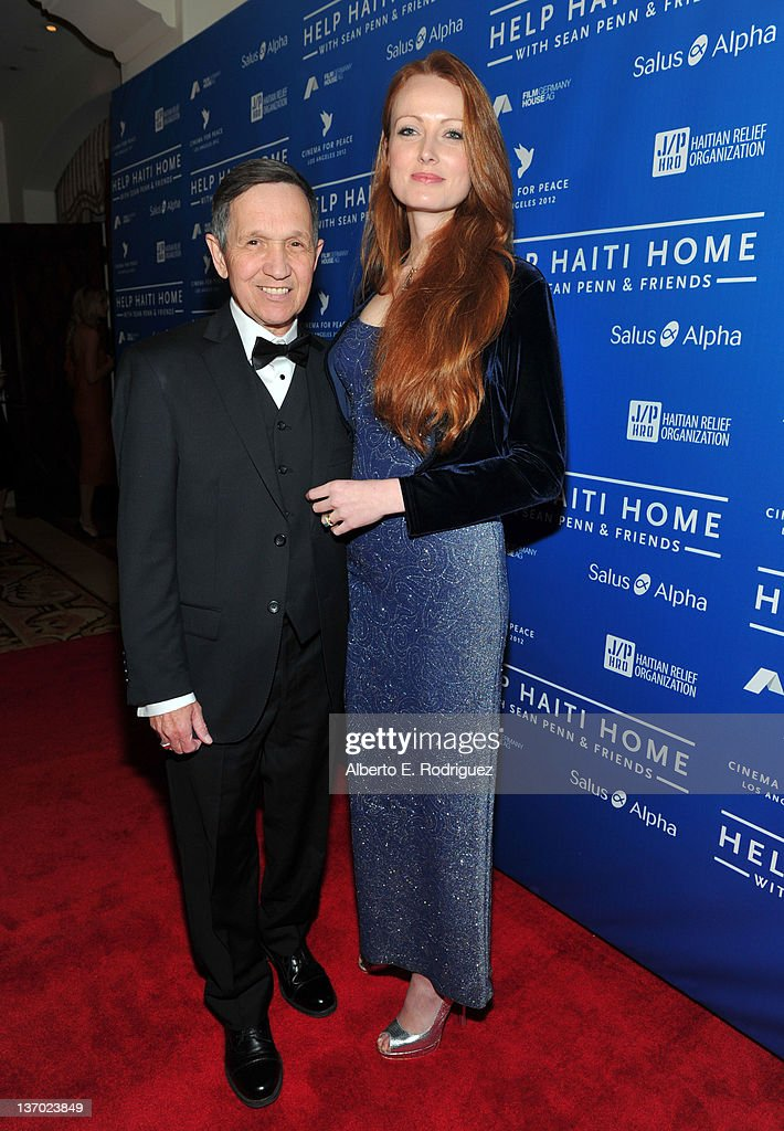 S Representative Dennis Kucinich and wife Elizabeth Kucinich arrive at the Cinema For Peace event benefitting J/P Haitian Relief Organization in Los...