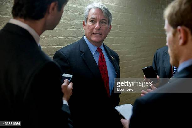 Representative Dennis Ross a Republican from Florida speaks to reporters after a House Republican Conference meeting at the US Capitol Building in...
