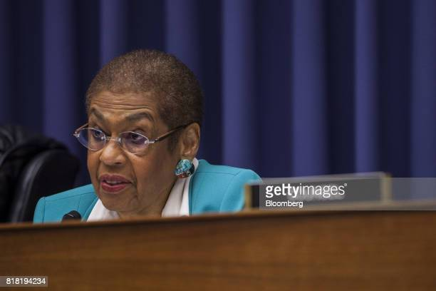 Representative Eleanor Holmes Norton a Democrat from the District of Columbia and ranking member of the Highways and Transit Subcommittee speaks...
