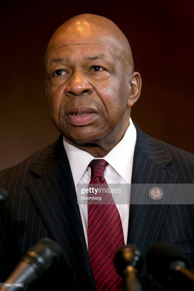 Representative Elijah Cummings, a Democrat from Maryland, speaks during a news conference in Washington, D.C. U.S., on Tuesday, Dec. 11, 2012. Democratic lawmakers want Medicaid funding protected in the fiscal cliff talks. Photographer: Andrew Harrer/Bloomberg via Getty Images