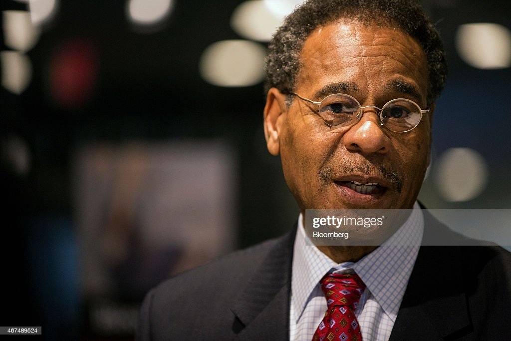 Representative <a gi-track='captionPersonalityLinkClicked' href=/galleries/search?phrase=Emanuel+Cleaver&family=editorial&specificpeople=754349 ng-click='$event.stopPropagation()'>Emanuel Cleaver</a>, a Democrat from Missouri, speaks during an interview in Washington, D.C., U.S., on Wednesday, March 25, 2015. Republicans blocking the confirmation of U.S. attorney general nominee Loretta Lynch risk playing into a theme that their opposition to President Barack Obama is based on race, Cleaver said. Photographer: David Banks/Bloomberg via Getty Images