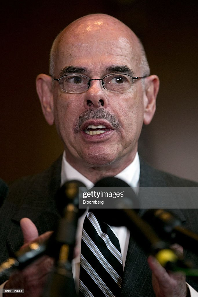 Representative Henry Waxman, a Democrat from California, speaks during a news conference in Washington, D.C. U.S., on Tuesday, Dec. 11, 2012. Democratic lawmakers want Medicaid funding protected in the fiscal cliff talks. Photographer: Andrew Harrer/Bloomberg via Getty Images