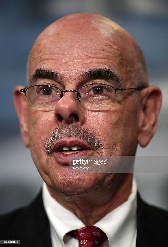 U.S. Representative <a gi-track='captionPersonalityLinkClicked' href=/galleries/search?phrase=Henry+Waxman&family=editorial&specificpeople=217361 ng-click='$event.stopPropagation()'>Henry Waxman</a> (D-CA) speaks to the media during a news conference January 24, 2013 on Capitol Hill in Washington, DC. The legislators were expected to announce a new cap-and-trade bill.