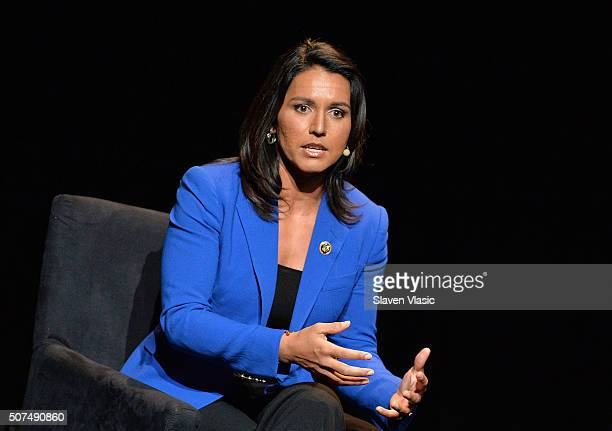 S Representative HI02 Tulsi Gabbard attends the 2016 'Tina Brown Live Media's American Justice Summit' at Gerald W Lynch Theatre on January 29 2016...