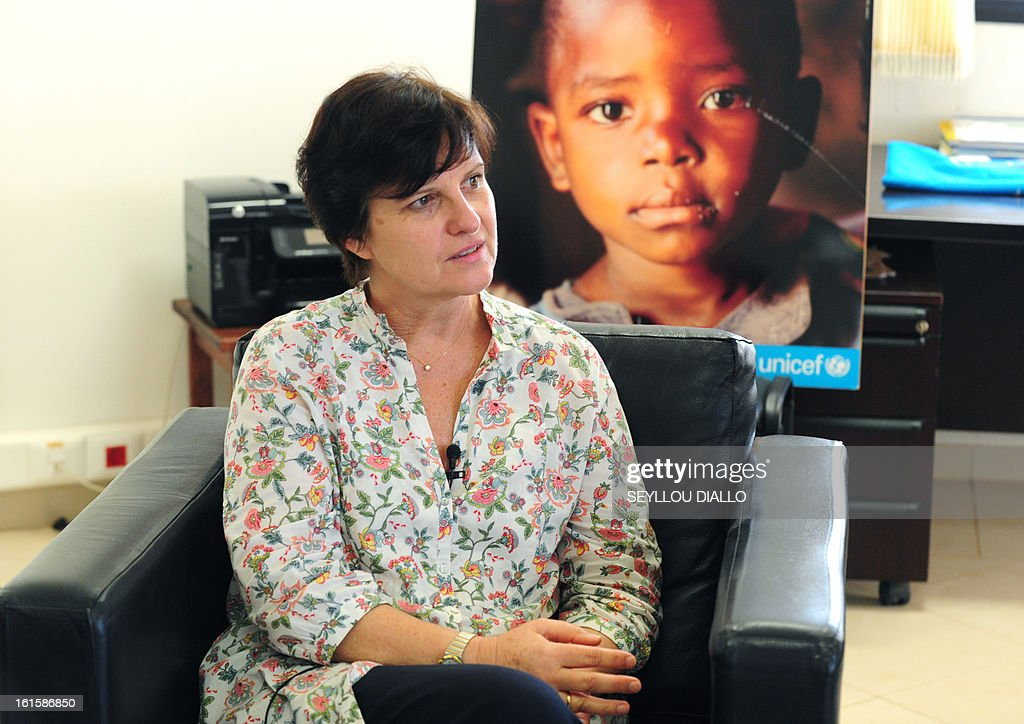 UNICEF representative in Mali, Francoise Ackermans of Belgium, poses on February 11, 2013 in Dakar. Ackermans said child soldiers were deployed by groups who has seized northern Mali in 2012. France launched an operation in the African country on January 11 after Mali's interim government requested help. It sent in fighter jets, attack helicopters and ground troops to battle Islamist rebels who had seized the north and were advancing into southern territory.