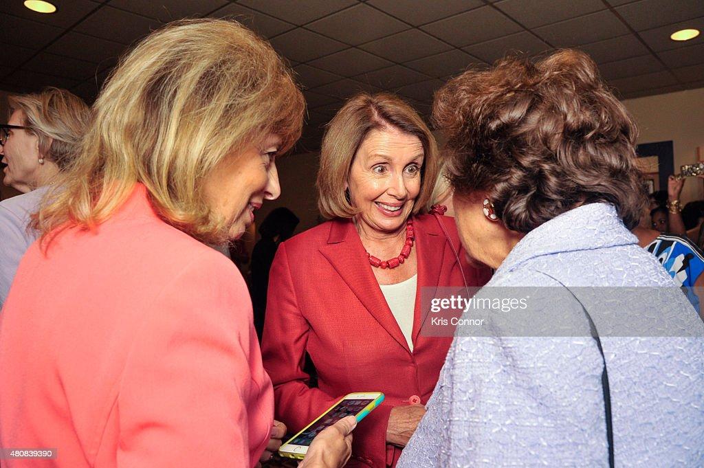 Representative Jackie Speier Minority Leader Nancy Pelosi and Rep Nita Loweyattend the 'Time Out Of Mind' Washington DC Screening at Landmark E...