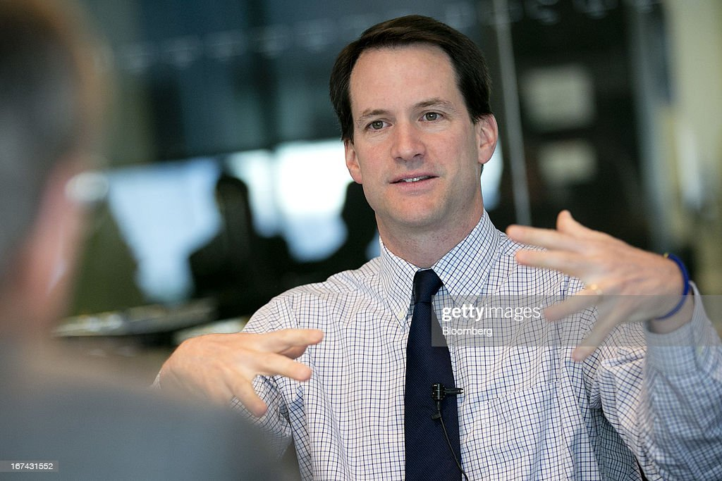 Representative James 'Jim' Himes, a Democrat from Connecticut, speaks during an interview in Washington, D.C., U.S., on Thursday, April 25, 2013. Himes defeated 10-term incumbent Republican Chris Shays in 2008, becoming the first Democrat to represent Connecticut's 4th District since 1968. He is currently serving his second term in Congress and is a member of the House Committee on Financial Services. Photographer: Andrew Harrer/Bloomberg via Getty Images