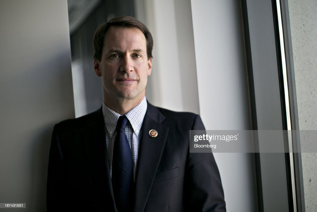 Representative James 'Jim' Himes, a Democrat from Connecticut, stands for a photograph following an interview in Washington, D.C., U.S., on Thursday, April 25, 2013. Himes defeated 10-term incumbent Republican Chris Shays in 2008, becoming the first Democrat to represent Connecticut's 4th District since 1968. He is currently serving his second term in Congress and is a member of the House Committee on Financial Services. Photographer: Andrew Harrer/Bloomberg via Getty Images
