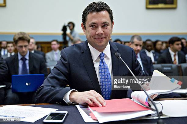 Representative Jason Chaffetz a Republican from Utah and chairman of the House Oversight and Government Reform Committee arrives to a House Judiciary...