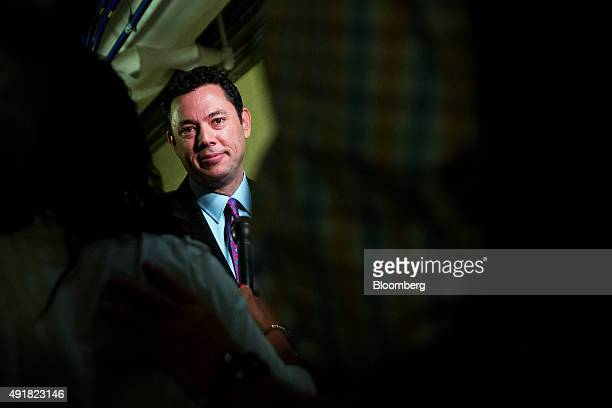 Representative Jason Chaffetz a Republican from Utah speaks to the media while leaving a House Republican conference meeting on Capitol Hill in...