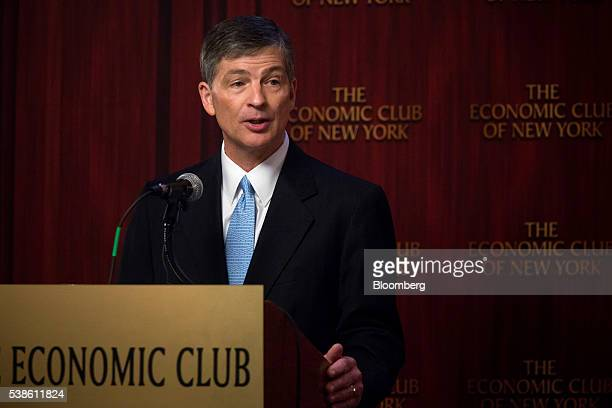 Representative Jeb Hensarling a Republican from Texas and chairman of the House Financial Services Committee speaks while unveiling the Financial...