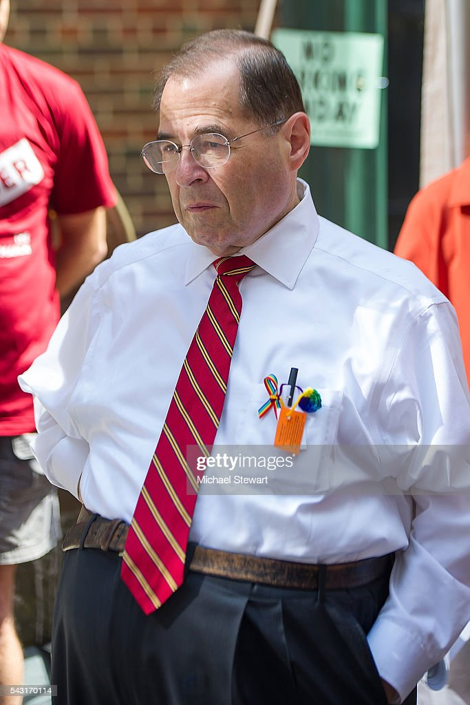 U.S. Representative Jerry Nadler attends the 2016 Pride March on June 26, 2016 in New York City.
