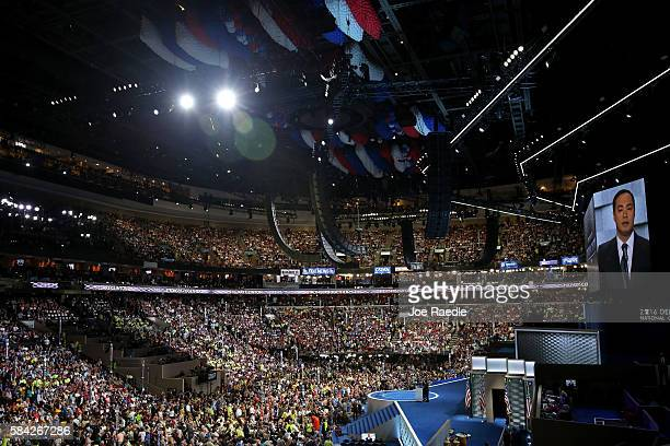 S Representative Joaquin Castro delivers remarks on the fourth day of the Democratic National Convention at the Wells Fargo Center July 28 2016 in...
