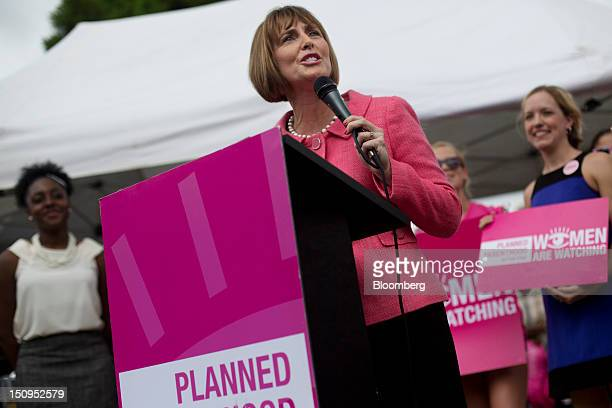 Representative Kathy Castor a Democrat from Florida addresses the crowd at the Planned Parenthood 'Women Are Watching' rally on the third day of the...