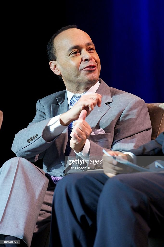 U.S. Representative Luis Gutierrez serves as a panelist at the 'Latino Nation Beyond the Numbers' event at Jones Convocation Center at Chicago State University on April 6, 2013 in Chicago, Illinois.