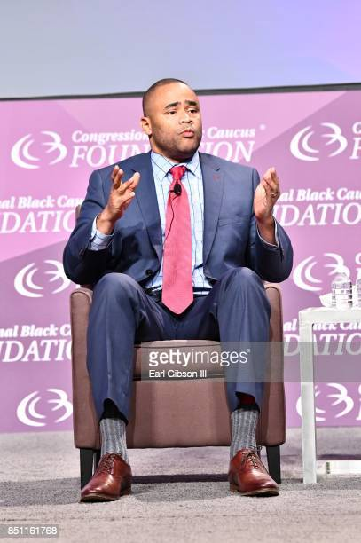 S Representative Marc Veasey serves as a panelist at the National Town Hall at Walter E Washington Convention Center on September 21 2017 in...