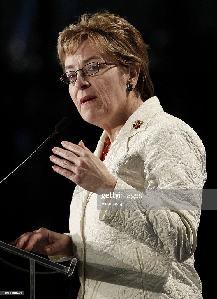 U.S. Representative Marcy Kaptur, a Democrat from Ohio, speaks during an event at the Ford Motor Co. Cleveland Engine Plant in Brook Park, Ohio, U.S., on Thursday, February 21, 2013. Ford Motor Co. said it will invest $200 million to make four-cylinder engines at the plant starting in late 2014 as the second-largest U.S. automaker equips an increasing number of models with smaller, more fuel-efficient powertrains. Photographer: David Maxwell/Bloomberg via Getty Images