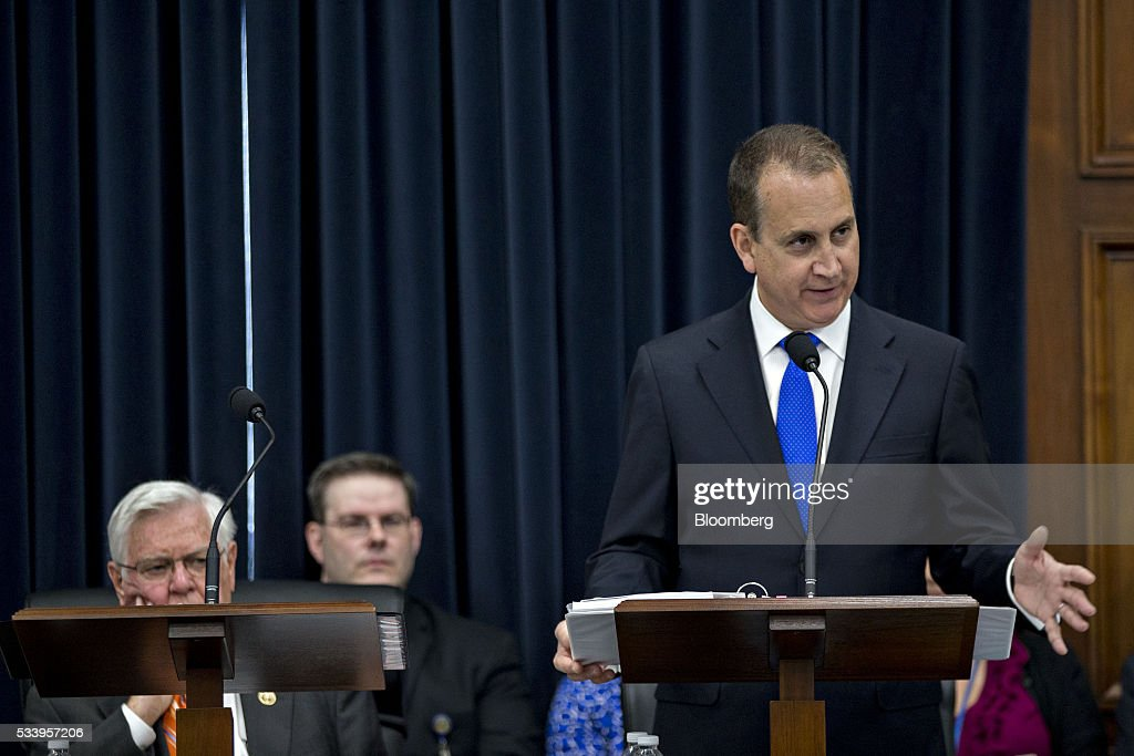 Representative Mario Diaz-Balart, a Republican from Florida, speaks during a House Appropriations Committee markup in Washington, D.C., U.S., on Tuesday, May 24, 2016. The committee was meeting on the markup of the FY2017 Commerce, Justice and Science bill and the FY 2017 Transportation, Housing and Urban Development Appropriations bill. Photographer: Andrew Harrer/Bloomberg via Getty Images