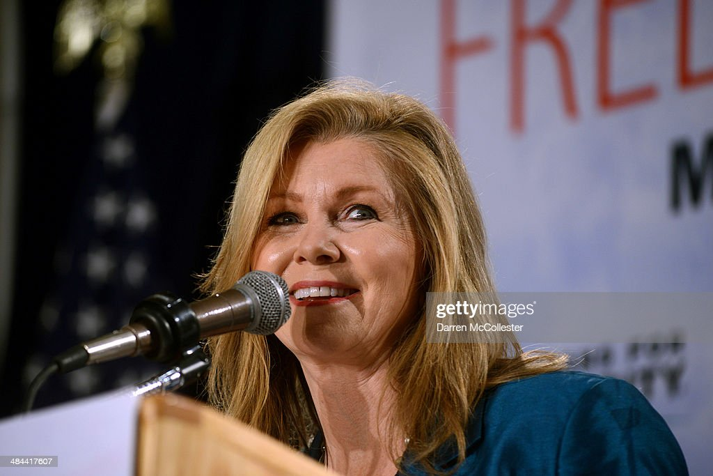 U.S. Representative Marsha Blackburn (R-TN) speaks at the Freedom Summit at The Executive Court Banquet Facility April 12, 2014 in Manchester, New Hampshire. The Freedom Summit held its inaugural event where national conservative leaders bring together grassroots activists on the eve of tax day. Photo by Darren McCollester/Getty Images)