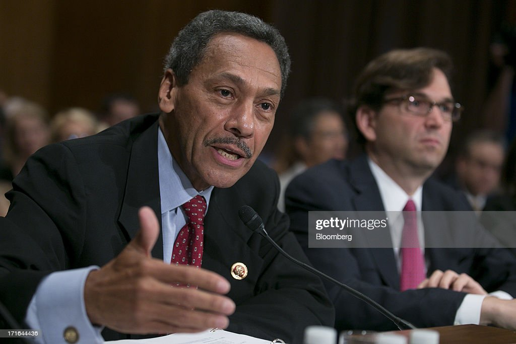 Representative Mel Watt a Democrat from North Carolina and US President Barack Obama's nominee as director of the Federal Housing Finance Agency left...