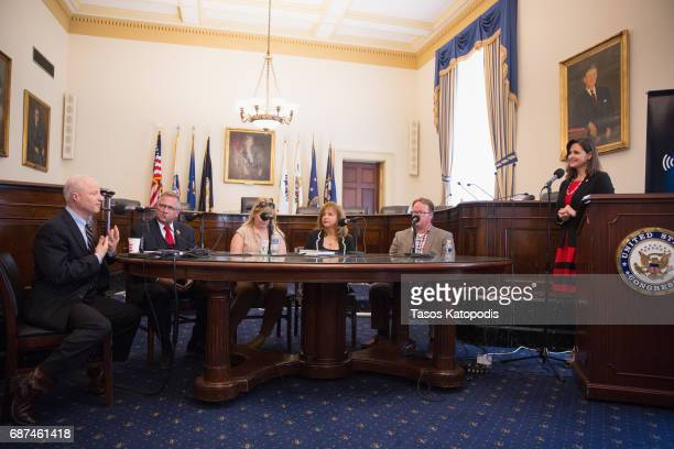Representative Mike Coffman US Representative Mike Bost Meredith Ller Dr Betty Rob Barr and Jennifer Hammond at SiriusXM's Congressional Veterans...