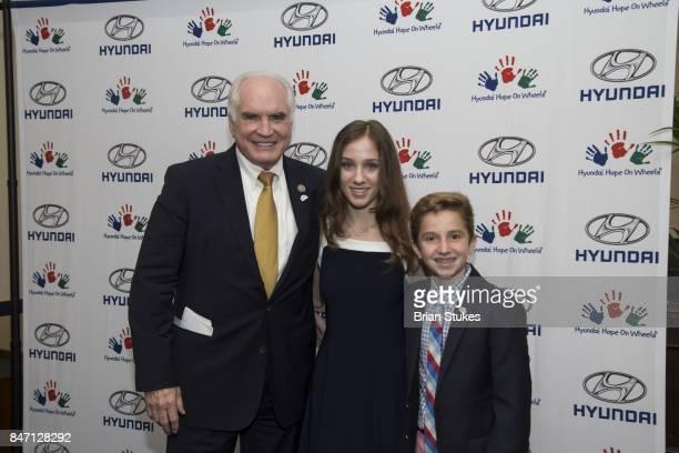 Representative Mike Kelly Hyundai Hope On Wheels National Youth Ambassadors Hannah Adams and Ryan Darby attend Hyundai 'Hope On Wheels' Press...
