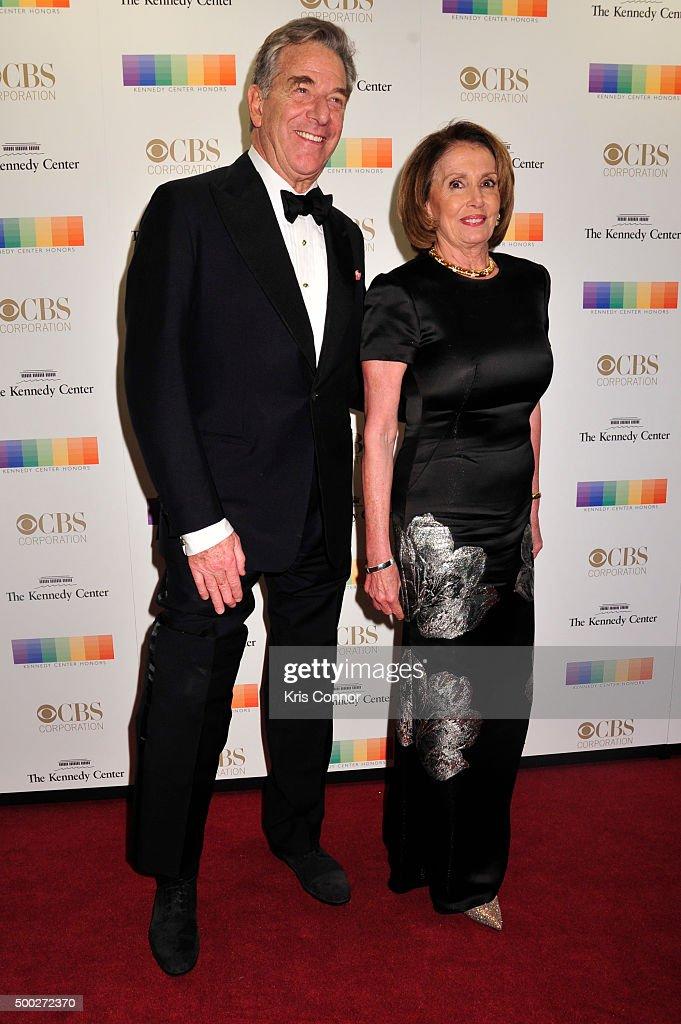 Representative Nancy Pelosi and husband Paul Pelosi arrive at the 38th Annual Kennedy Center Honors Gala at the Kennedy Center for the Performing Arts on December 6, 2015 in Washington, DC.