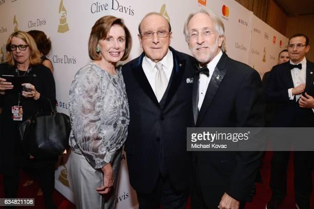 US Representative Nancy Pelosi host Clive Davis and President/CEO of The Recording Academy and GRAMMY Foundation President/CEO Neil Portnow attend...