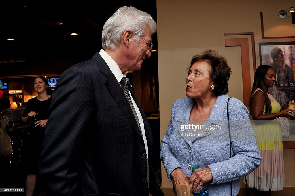 Representative Nita Lowey and actor Richard Gere attends the 'Time Out Of Mind' Washington DC Screening at Landmark E Street Cinema on July 15 2015...