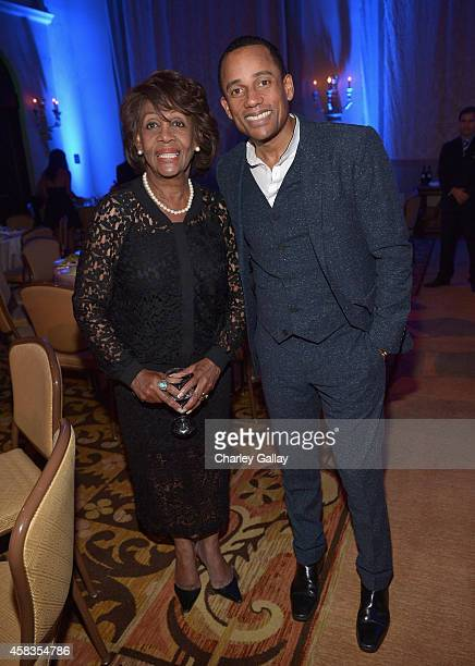 S Representative of California Maxine Waters and actor Hill Harper attend The Equality Now's 'Make Equality Reality' Event at Montage Beverly Hills...