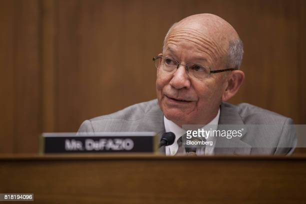 Representative Peter DeFazio a Democrat from Oregon and ranking member of the House Transportation and Infrastructure Committee speaks during a...