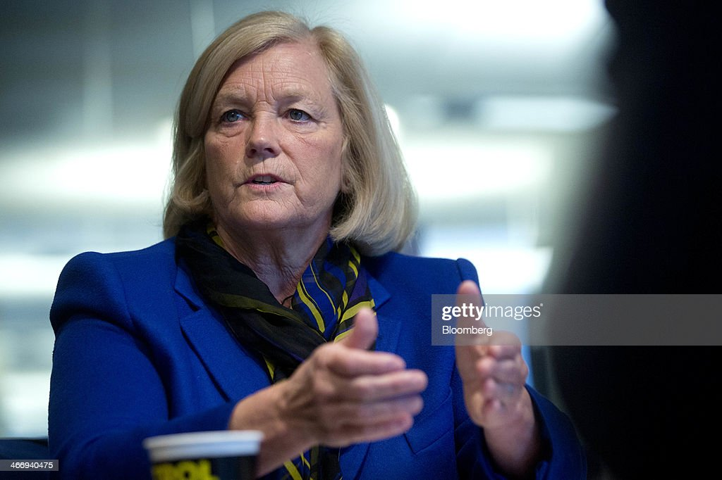 Representative Rochelle 'Chellie' Pingree, a Democrat from Maine, speaks during an interview in Washington, D.C., U.S., on Wednesday, Feb. 5, 2014. Pingree said she thinks House Democrats will hold President Barack Obama's line on taking no concessions to raise debt limit, and that Republicans have so far been signaling that they won't ask for any. Photographer: Andrew Harrer/Bloomberg via Getty Images